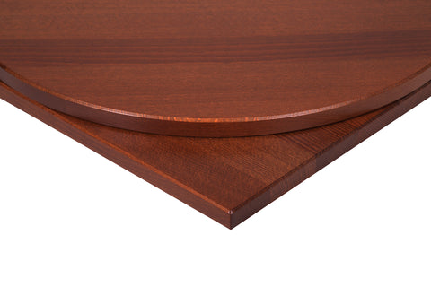 26mm Solid Beech Table Top in Walnut Stain