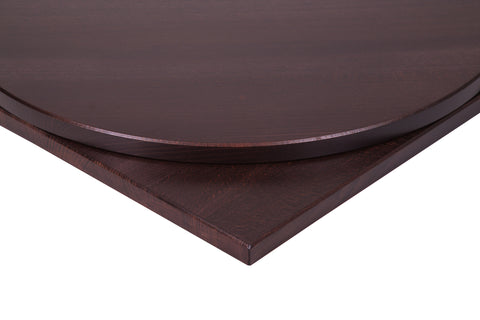 26mm Solid Beech Restaurant Table Top in Wenge Stain