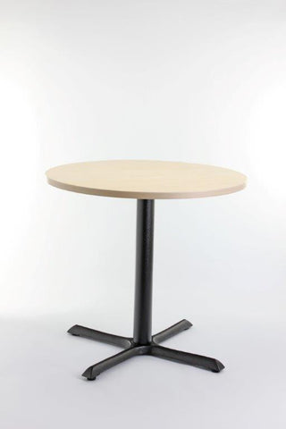 Beech Restaurant Table Top with Base (700mm Round)