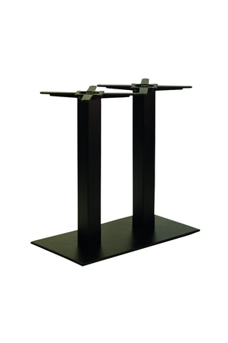 Forza Square Dining Height Twin Pedestal Base