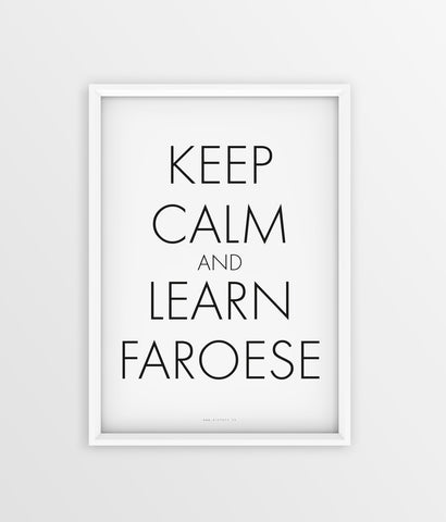 Keep Calm - Learn Faroese