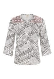 Tribal 3/4 Bell Sleeve Top