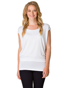 Yest - White short sleeve loose fit tunic