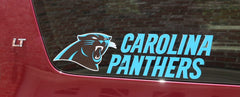 Carolina Panthers, Color Printed Die Cut Decal/Sticker