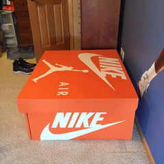 Set of Nike Swoosh w/ Nike Word Die Cut Vinyl Wall Decal/Sticker