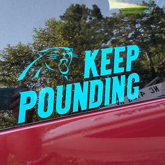 Carolina Panthers, Keep Pounding Die Cut Decal/Sticker