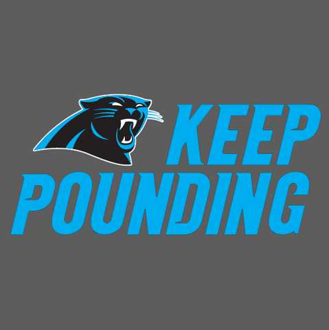 Carolina Panthers - Keep Pounding, Color Printed Die Cut Decal/Sticker