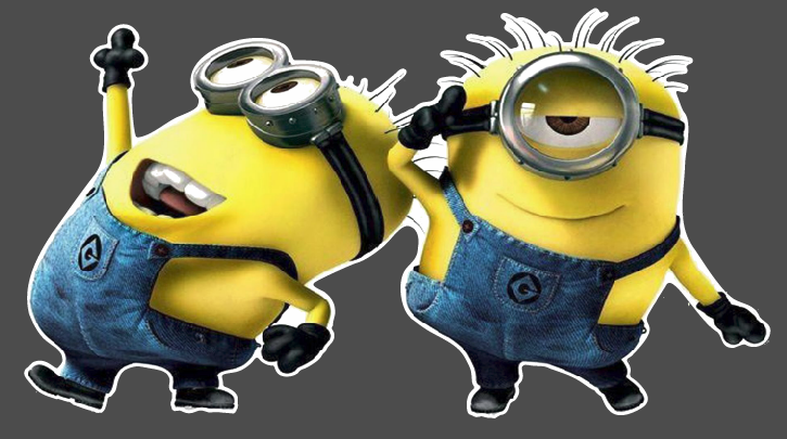 "Minions Dancing - 3"" x 8"" Printed Decal"