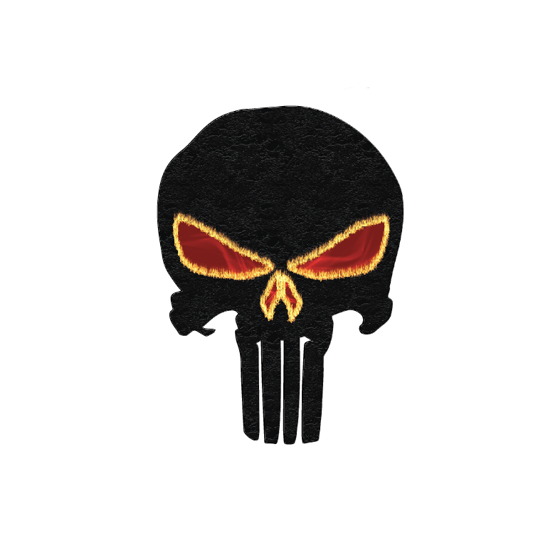 Punisher - Blood and Fire, Full Color Die Cut Decal/Sticker