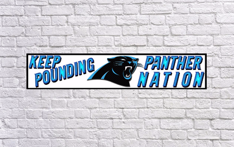 Carolina Panthers - Panther Nation, Color Printed Banner