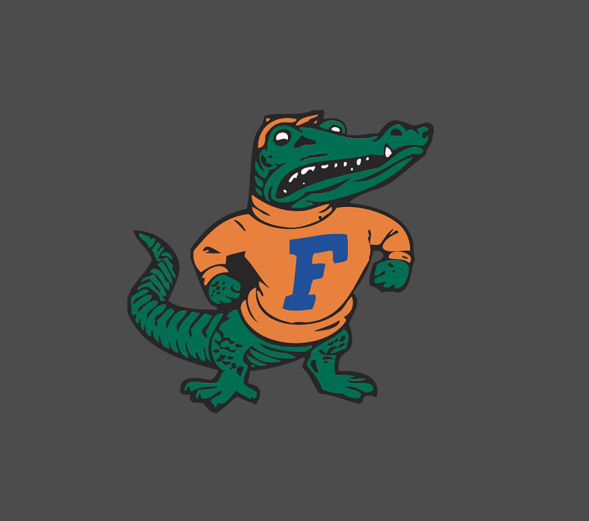Full Color Vintage - Florida Gators - Albert the Croc Die Cut Decal