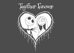 Jack and Sally - Together Forever Decal / Sticker