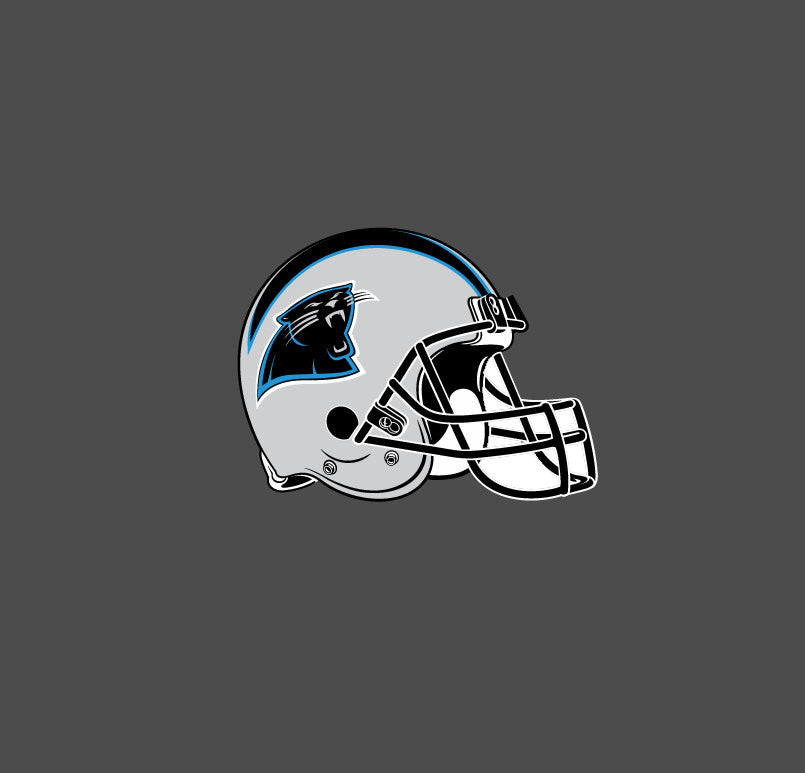 Full Color 1995 - 2011 Carolina Panthers Helmet Die Cut Decal