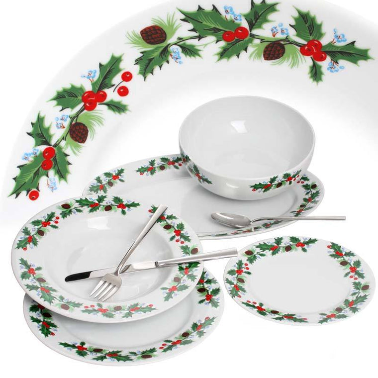 Christmas 20 pieces Dinnerware