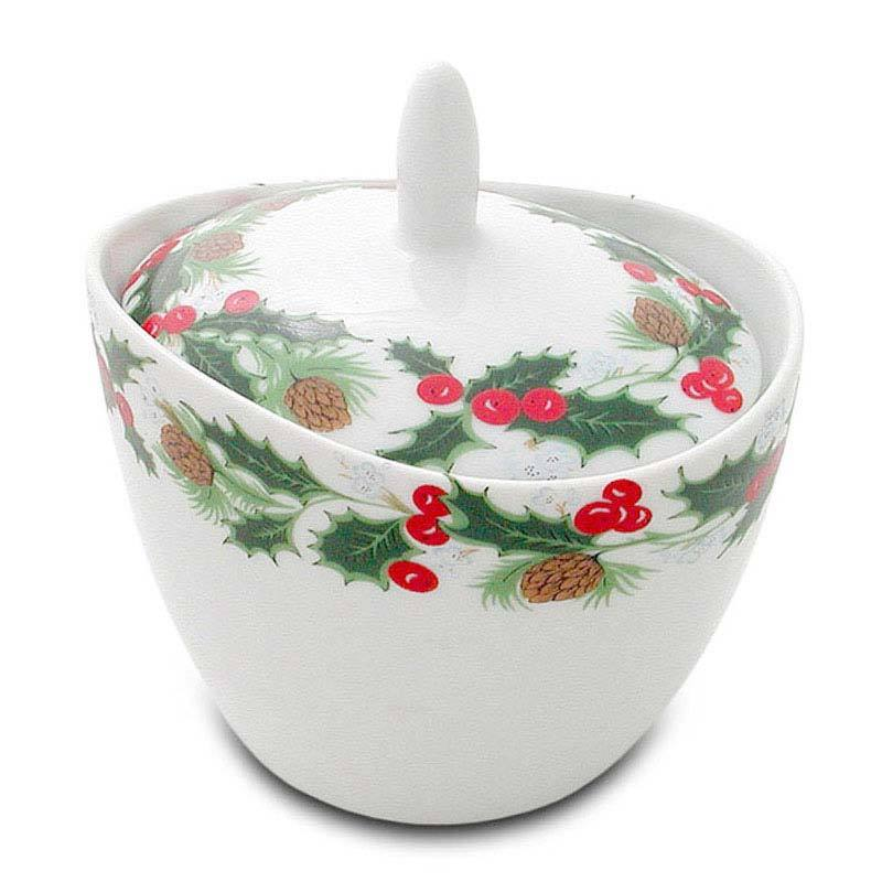 Christmas Sugar Pot