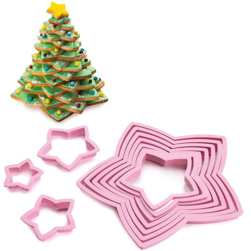 Pastry Cutter Christmas Tree 10 Pieces Set