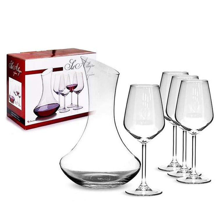 Wine Decanter 5 Pieces Set