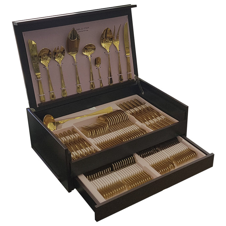 BELO INOX CROMA Golden Cutlery Set