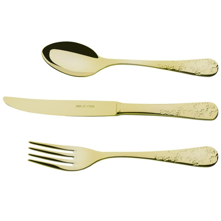 BELO INOX FAIAL GOLD 24 Pieces Cutlery Set