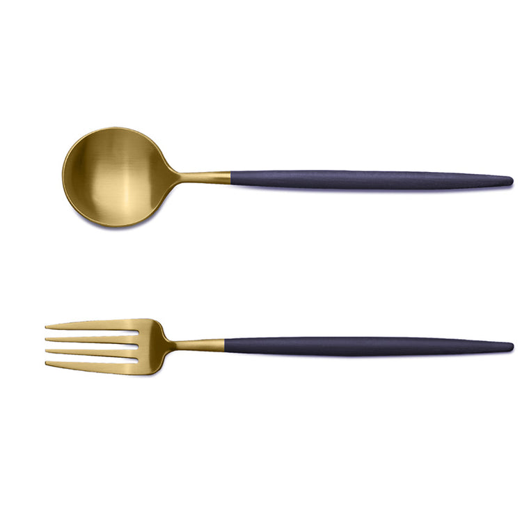 CUTIPOL GOA BLUE GOLD 2 Pieces Set