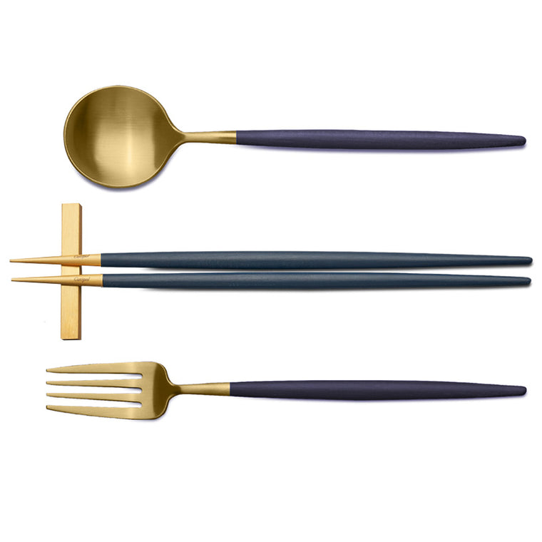 CUTIPOL GOA BLUE GOLD 3 Pieces Set