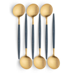 Cutipol Goa Blue Gold 6 Table Spoons