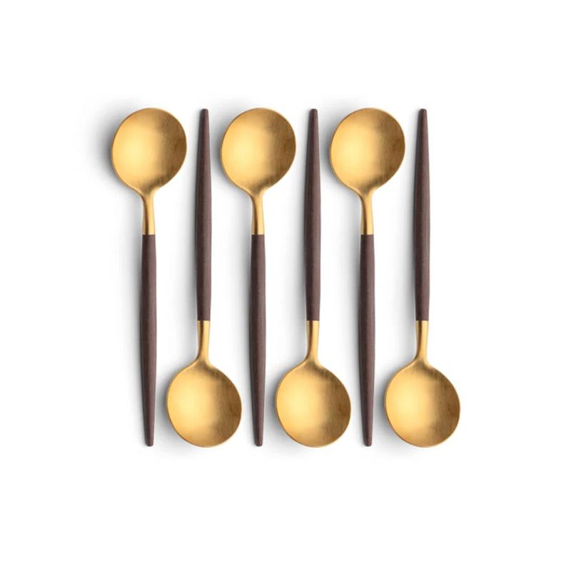 Cutipol Goa Brown Gold 6 Dessert Spoons