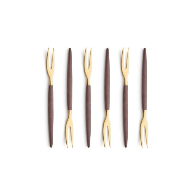 Cutipol Goa Brown Gold 6 Japanese Forks
