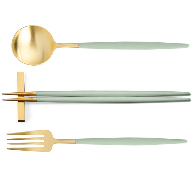 CUTIPOL GOA CELADON GOLD 3 Pieces Set