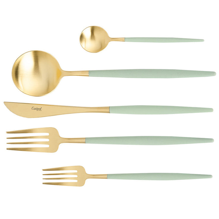 CUTIPOL GOA CELADON GOLD 5 Pieces Set