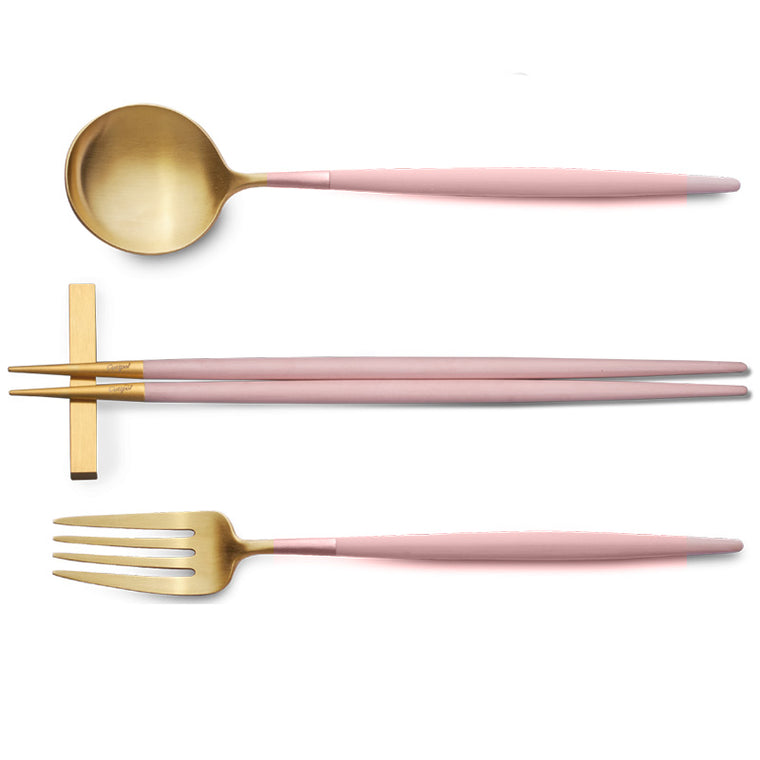 CUTIPOL GOA PINK GOLD 3 Pieces Set