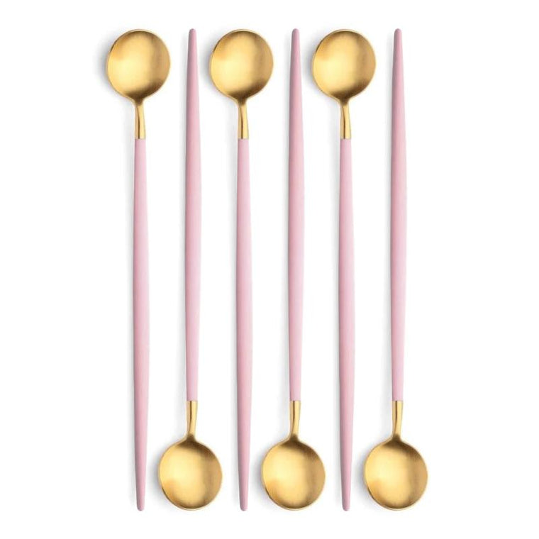 Cutipol Goa Pink Gold 6 Long Drink Spoons