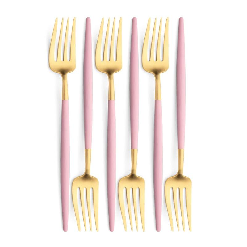 Cutipol Goa Pink Gold 6 Table Forks