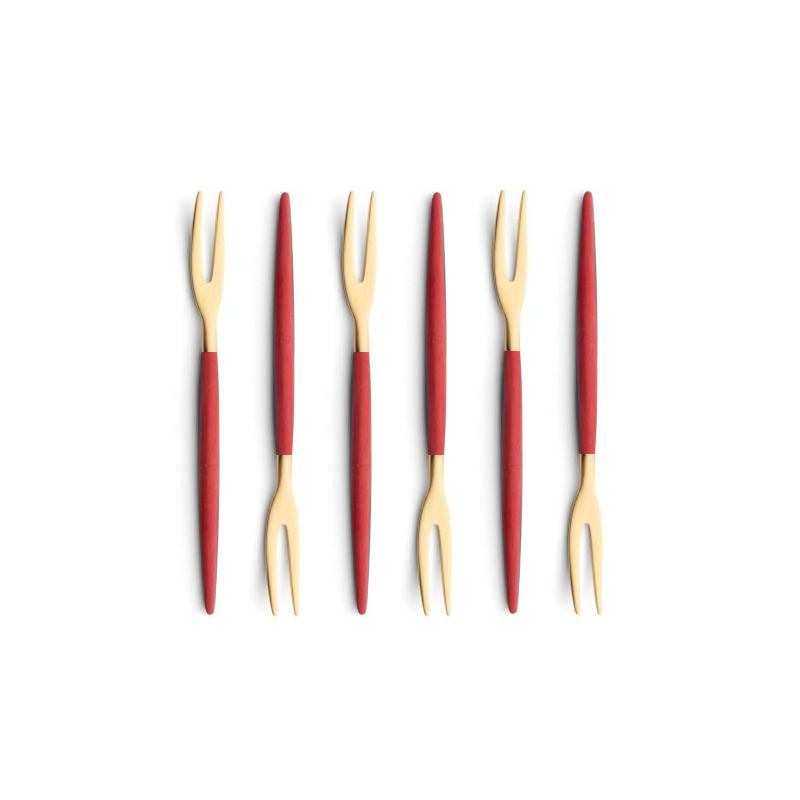 Cutipol Goa Red Gold 6 Japanese Forks