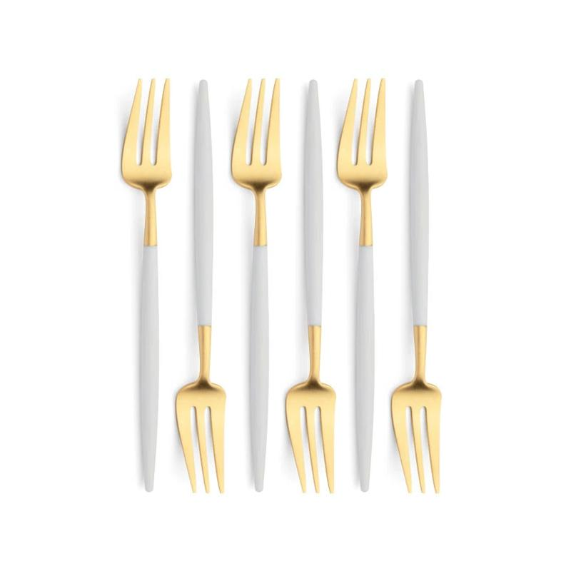 Cutipol Goa White Gold 6 Pastry Forks