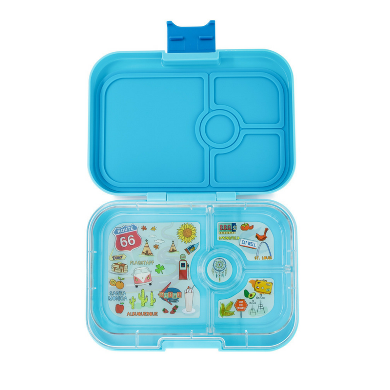Yumbox Panino (4 compartment) ~ Blue Fish ( NEW)