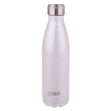 Oasis Shimmer S/S Double Wall 500ml insulated Drink Bottle ~ Silver