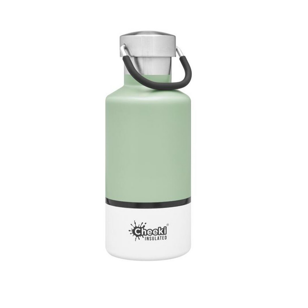 Cheeki 400ml Pistachio White insulated bottle