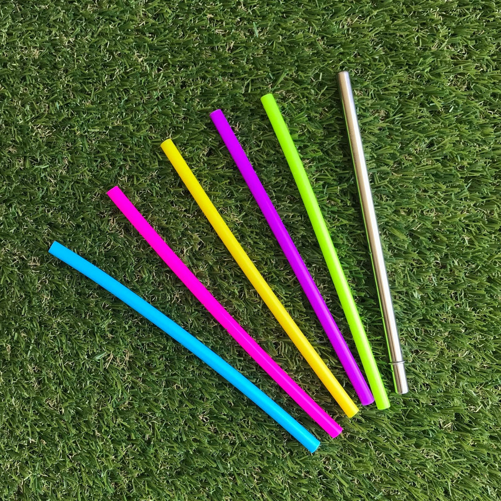 Montii Co Reusable MINI Silicone Straws ( 6 Pack)