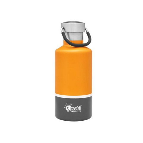 Cheeki 400ml Sunshine Grey insulated bottle
