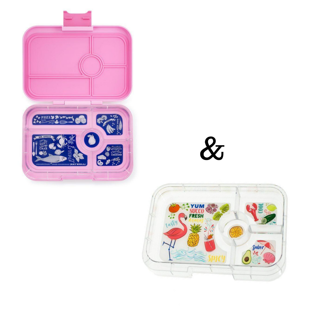 Yumbox Tapas (5 compartment) + Tapas 4 compartment Tray combo