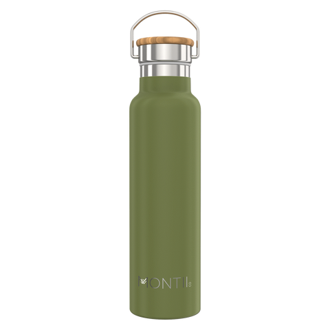 Montii Co Mega Insulated Drink Bottle 1L ~ OLIVE