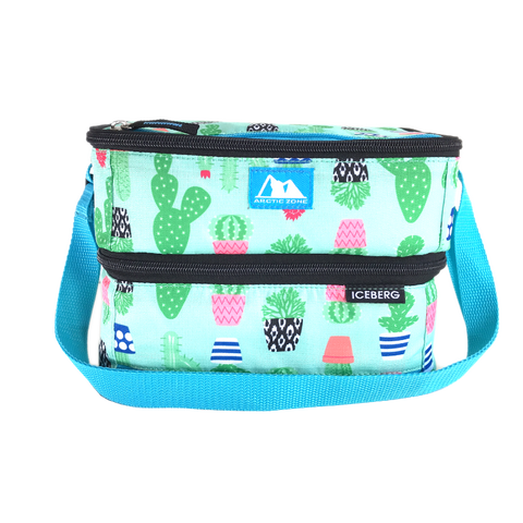 Arctic Zone Dual Compartment Lunch Pack ~ Cactus ( NEW)