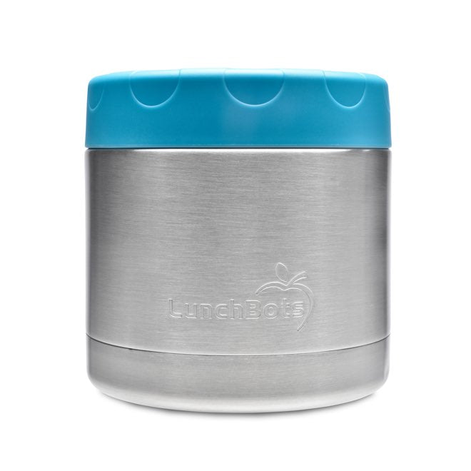 LunchBots Thermal Stainless Steel Insulated Food Jar - Aqua - 16 oz ( 470ml) (NEW)