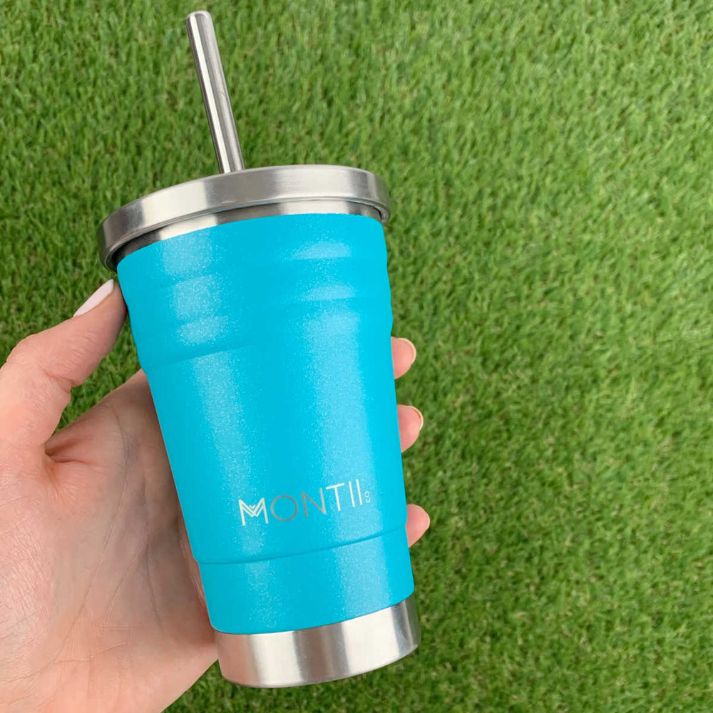 Montii MINI Smoothie Cup ~ Glitter Aqua