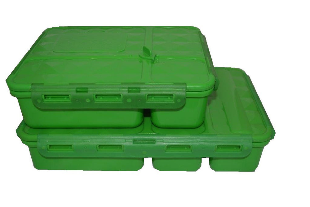 Go Green Medium Lunch Box ~ GREEN