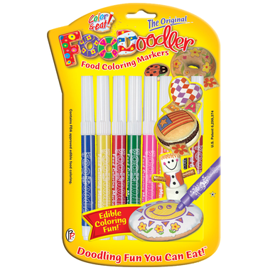 FooDoodler Edible Pens , 8 Assorted Colours. ( NEW)