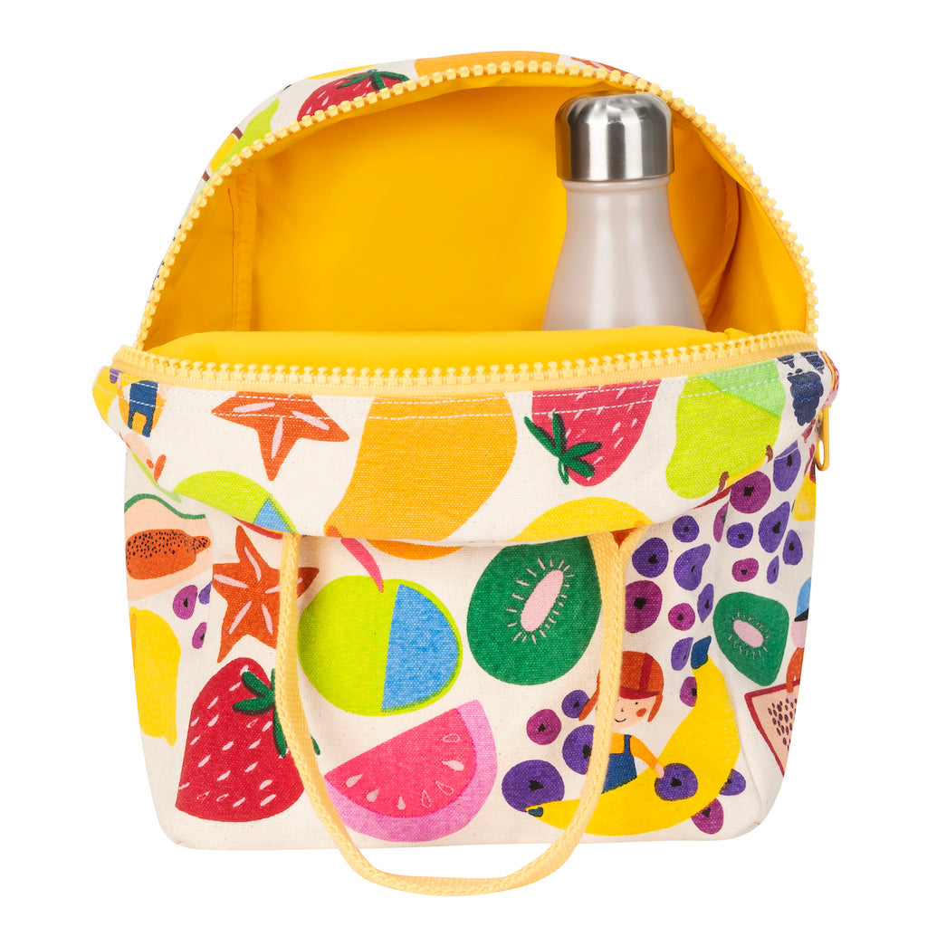 Fluf Zipper Lunch Bag Eat The Rainbow ( NEW)