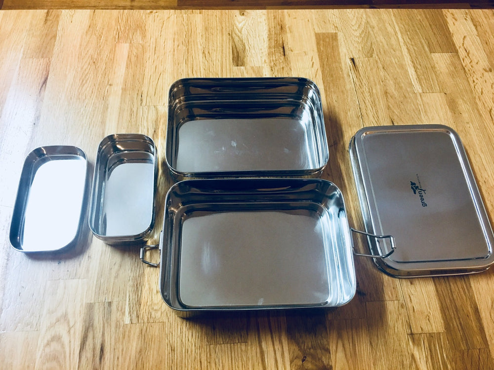 Green Essential Sustain-a-Stacker Trio Lunchbox  (NEW)