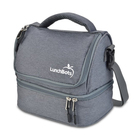 LunchBots Duplex Lunch Bag - Gray ( NEW colour) ( Pre-order now, ETA next week)